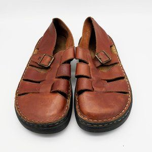G.H. BASS & CO Leather Sandals, Size 8